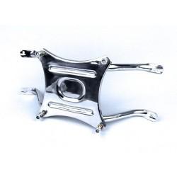 Stainless spare wheel holder.