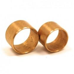 Kit of 2 bronze rings for...