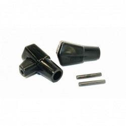 Black crutch tips Lambretta...