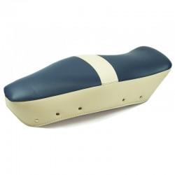 Blue and cream saddle cover