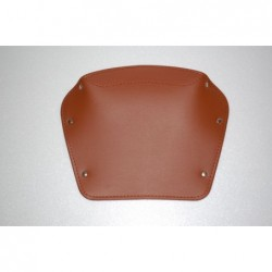 Brown rear rectangular saddle.