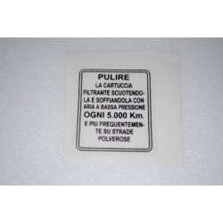 Air filter instructions.