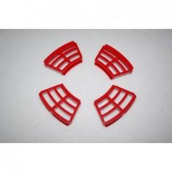 Red grid kit for disc brake.